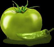 Tomates verdes y jalapeños verdes