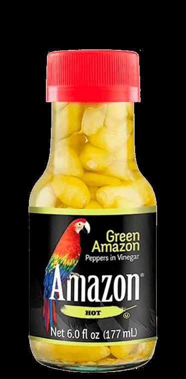 Green amazon in vinegar